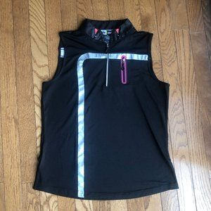 Jamie Sadock Black and Silver Golf Shirt Size M